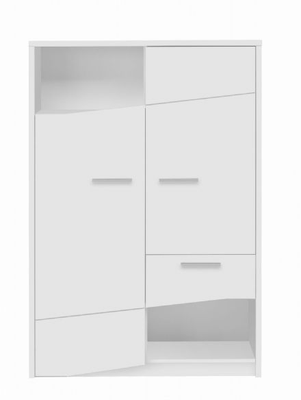 Palace Contemporary 2 Door and 1 Drawer Cabinet in White, Sawn Oak or Plum
